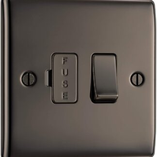 British General NBN50 Fused Spur Electrical Switch in Black Nickel