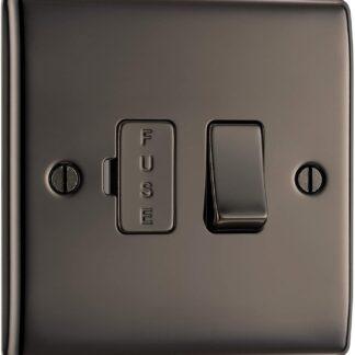British General NBN50 Fused Spur Electrical Switch in Black Nickel