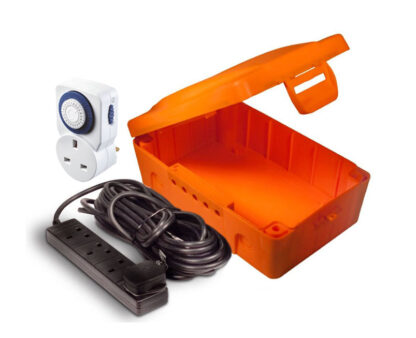 Masterplug Weatherproof Electrical Box with 8m Extension Lead and Timer