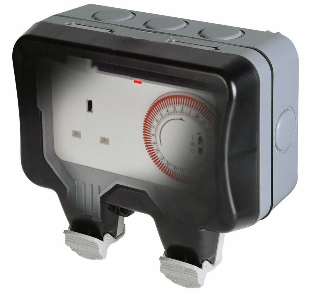 Bg Electrical Nexus Storm Weatherproof Timer Controlled 13a Power Socket